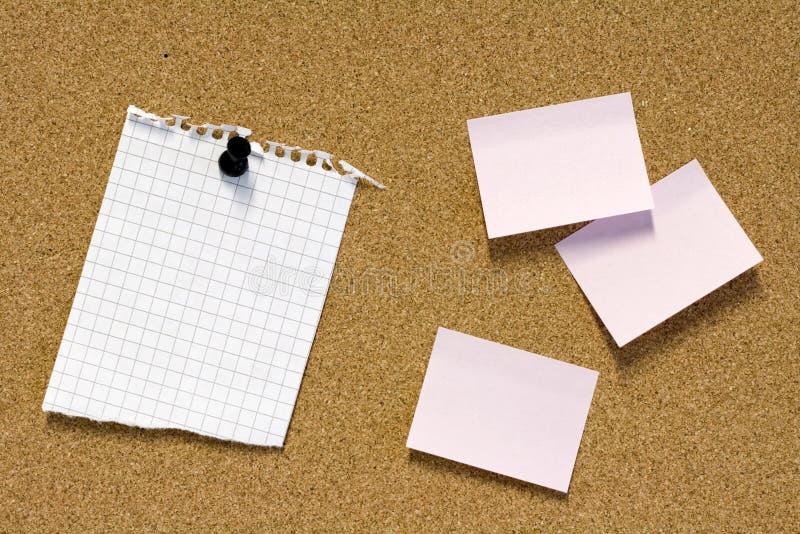 Notes sur le tableau d'affichage photo libre de droits