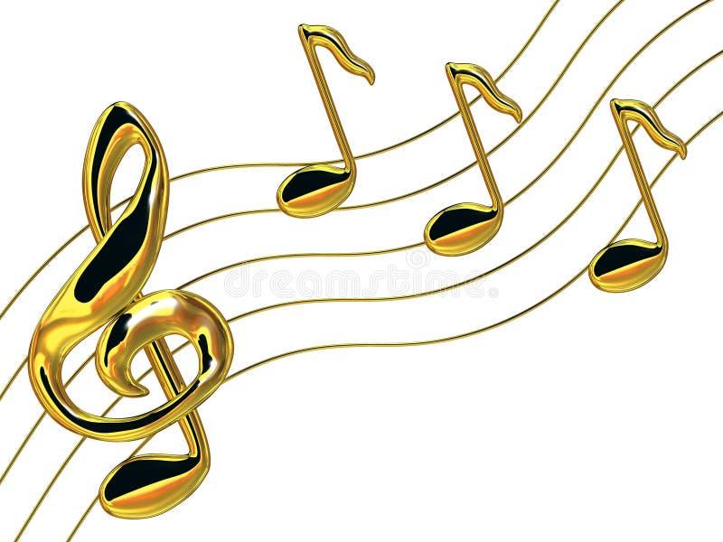 Download Notes a treble clef stock illustration. Illustration of sonata - 4394097