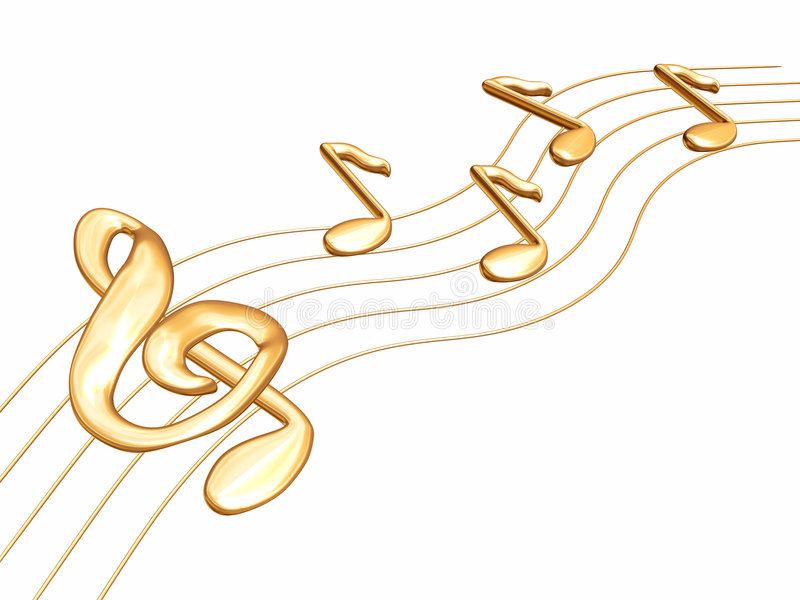 Notes A Treble Clef Royalty Free Stock Images