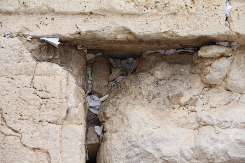 Download Notes In The Wailing Western Wall. Jerusalem Stock Photo - Image: 22546452