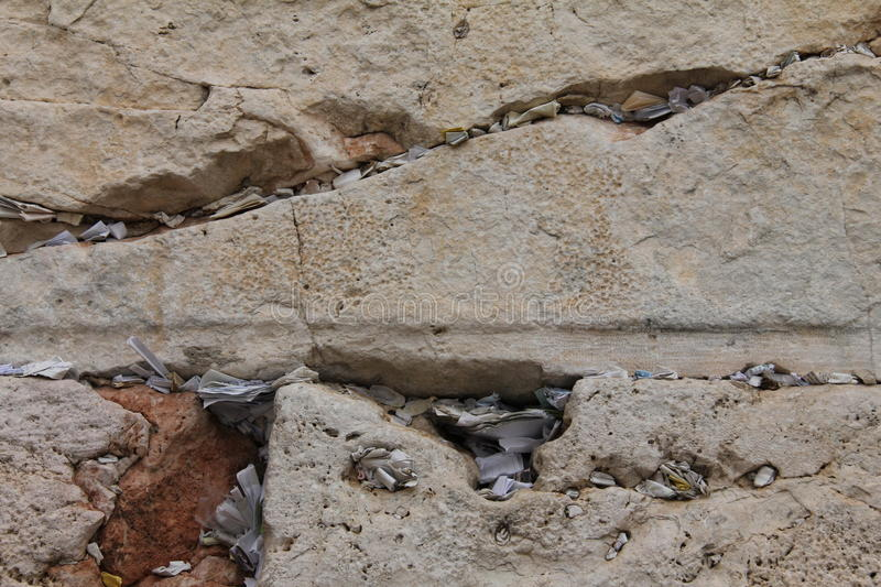 Download Notes In The Wailing Western Wall. Jerusalem Stock Image - Image: 22546487