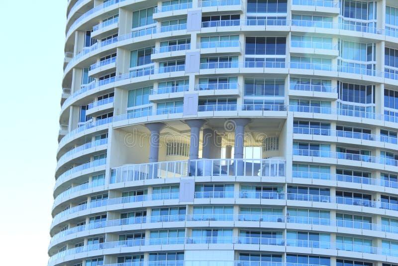Notevakuierung Niveau in der hohen Aufstiegswohnung stockbild