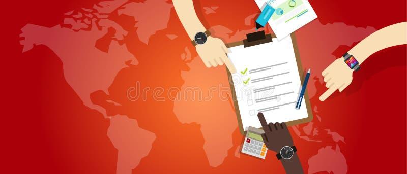 Notfallplanteam-Arbeitsmanagement-Vorbereitungszusammenarbeit lizenzfreie abbildung
