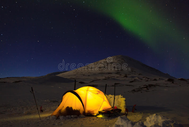 Nothern lights stock photo