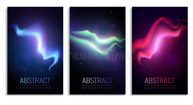 Nothern Lights Banners royalty free illustration