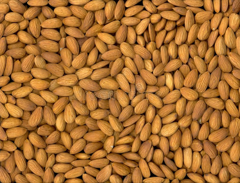Nothing but Almonds stock photography