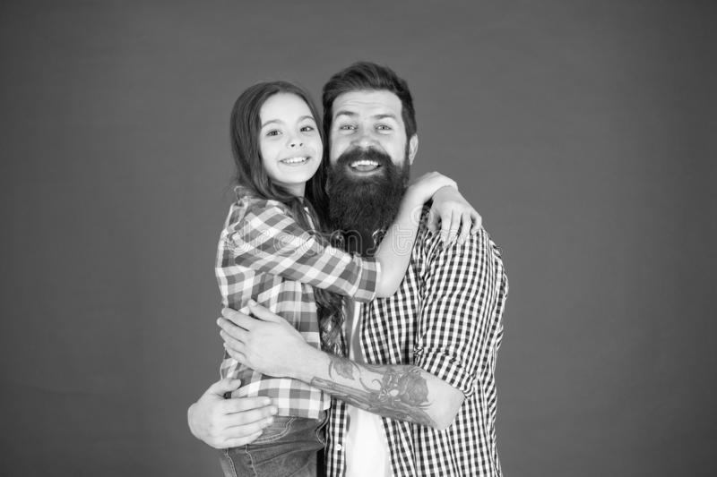 Nothing but family. happy little girl with father. little child love her dad. fathers day. childrens day. international. Childrens day. Family bonds. father and royalty free stock photo