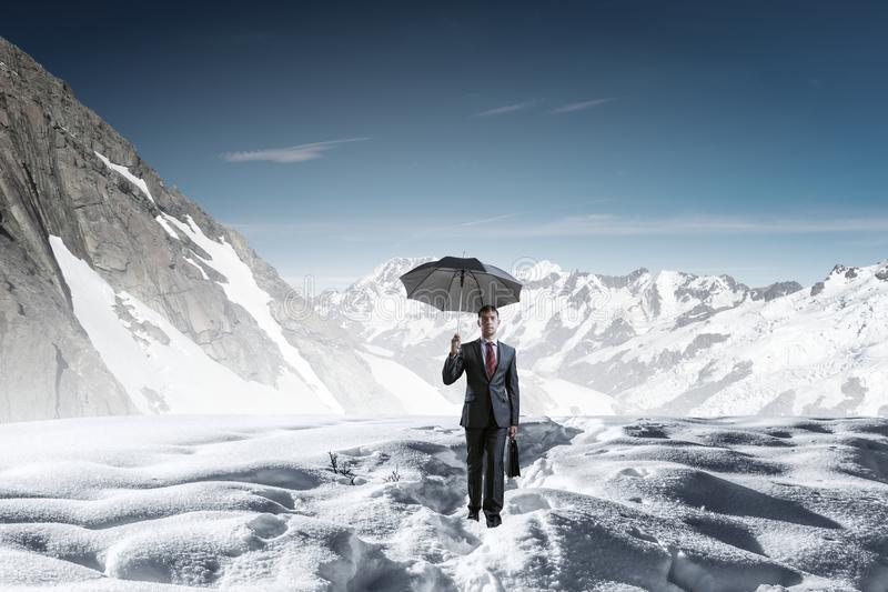 Nothing is gonna stop him. Mixed media royalty free stock photo