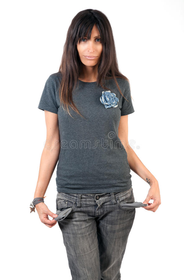 Download Nothing in her pockets stock image. Image of lack, impoverished - 20396673