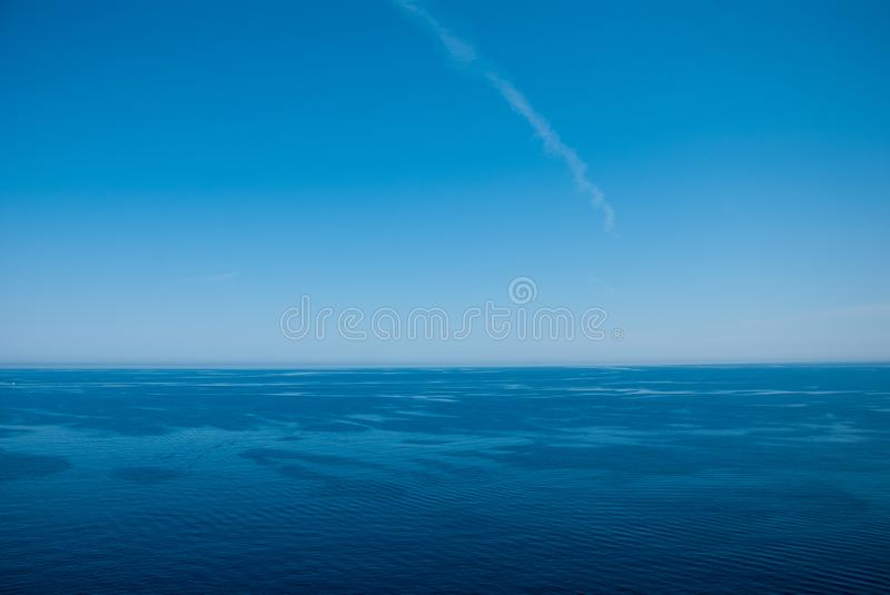 Blue horizon corsica. Nothing like the sea and sky, with a little wind royalty free stock photos