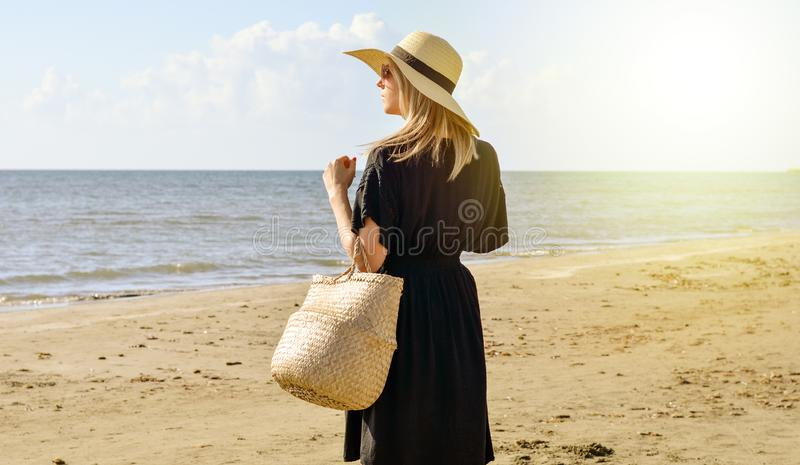 Nothing soothes the soul like a walk on the beach stock images