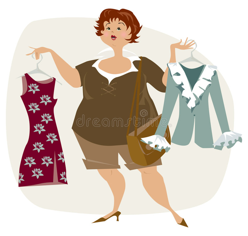 Download Nothing to dress stock vector. Image of plus, beauty, plump - 2983602