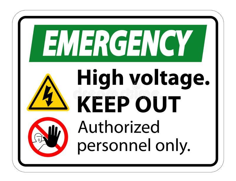 Nothochspannung halten Zeichen-Isolat auf weißem Hintergrund, Vektor-Illustration ENV ab 10 lizenzfreie abbildung