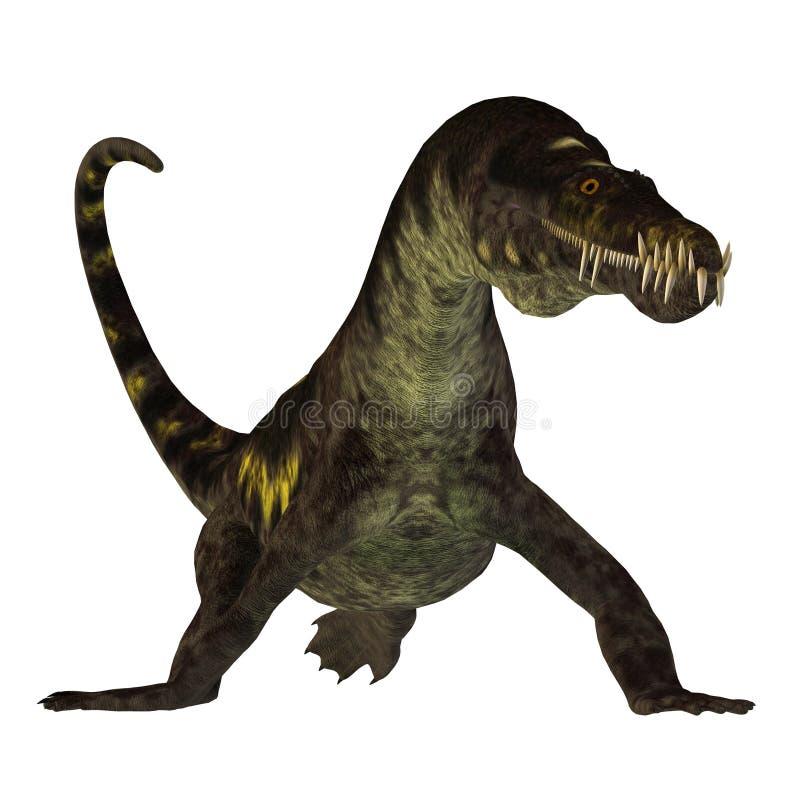 Nothosaurus στο λευκό ελεύθερη απεικόνιση δικαιώματος