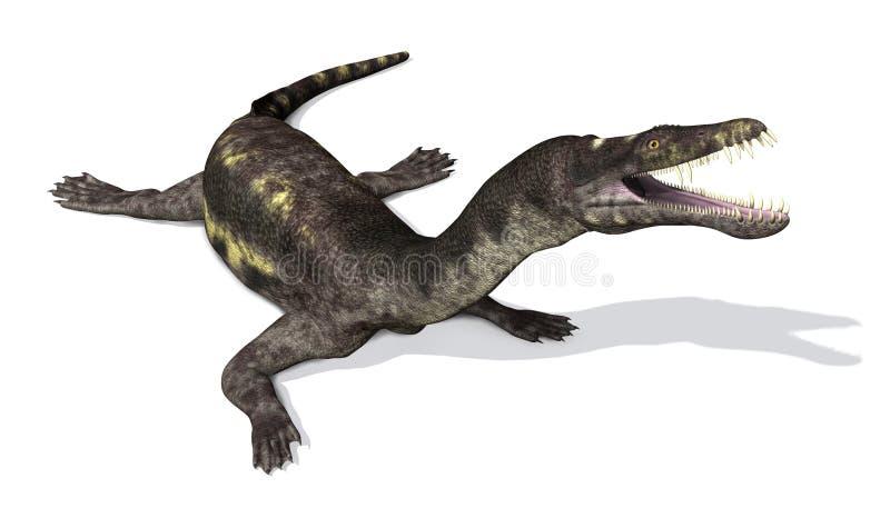 Nothosaurus: Voorhistorische Marine Reptile vector illustratie