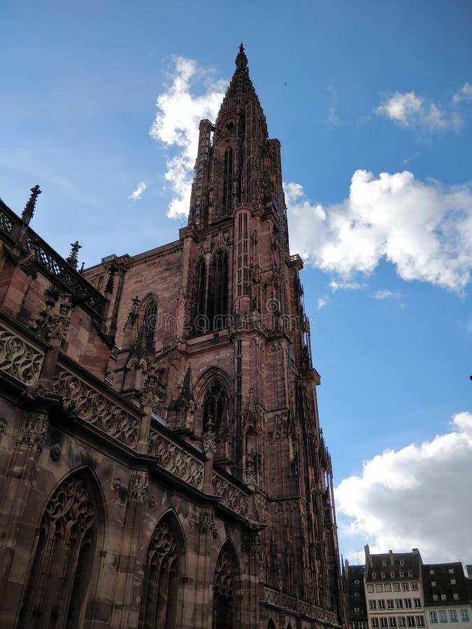 Nothre-dame de Strasburg royaltyfri fotografi