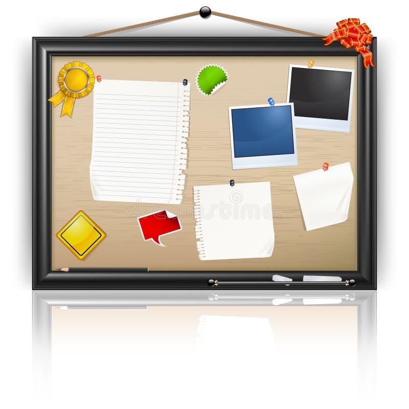 Notice board stock illustration