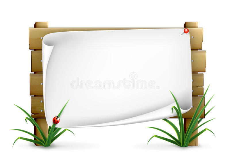 Notice board. Computer illustration, on white vector illustration