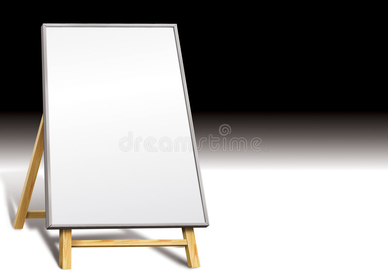 Notice board. Blank notice board or display stand board stock illustration
