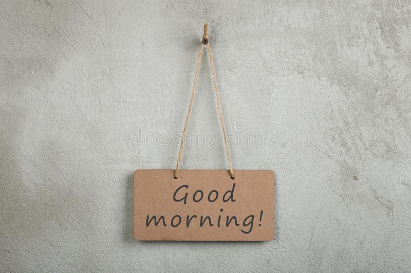 notice board, blackboard, chalkboard with text Good Morning royalty free stock photos