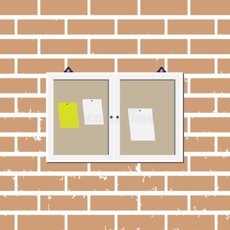 Notice board graphic design template. Illustration of notice board graphic design template vector vector illustration