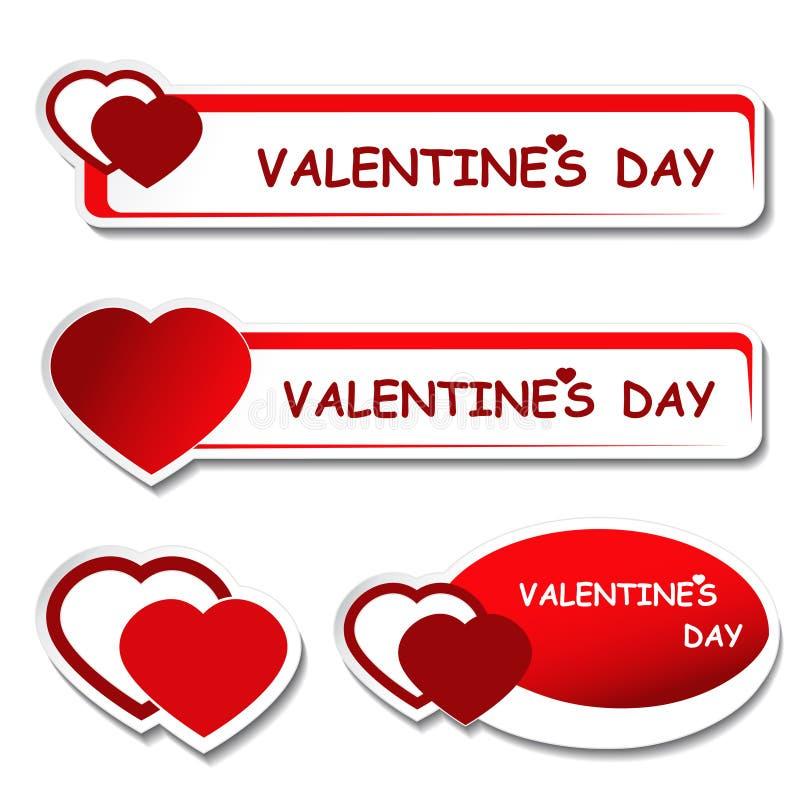 Notice Board - Valentines Day Label Stock Photo