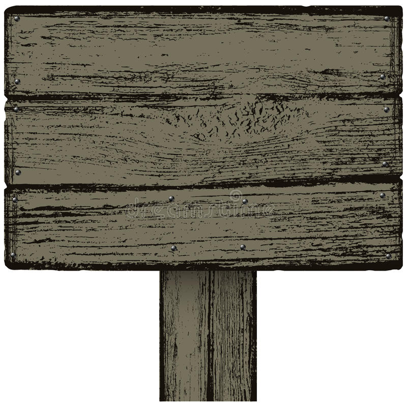 Notice board. Wooden notice board, this illustration may be useful as designer work vector illustration
