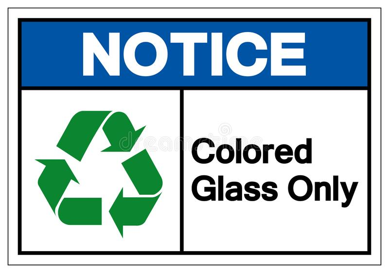 Notice Colored Glass Only Symbol Sign ,Vector Illustration, Isolate On White Background Label .EPS10 royalty free illustration