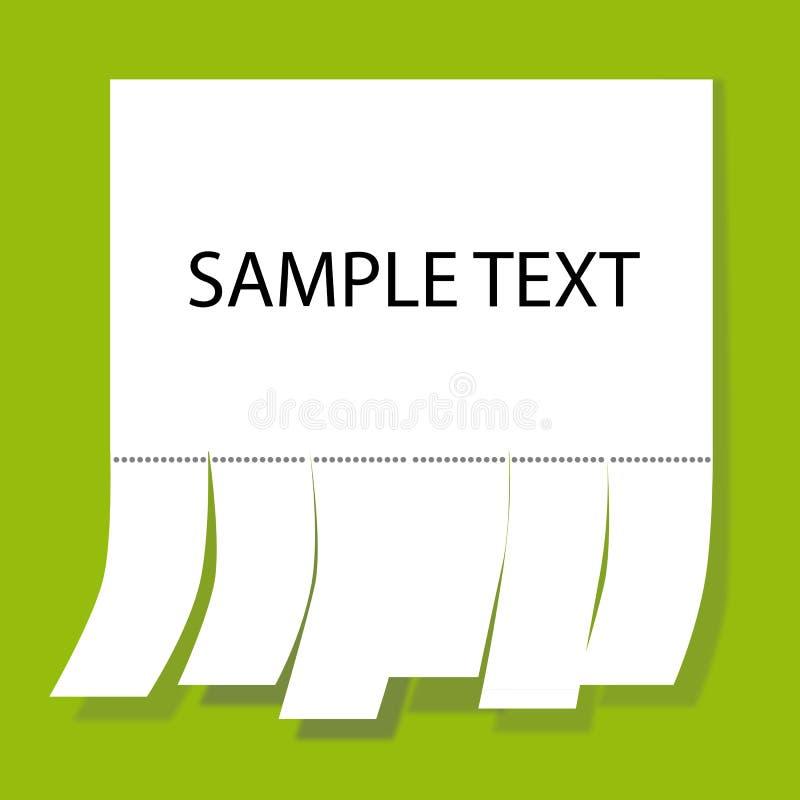 Download Notice Paper stock vector. Image of empty, concept, curl - 19274404