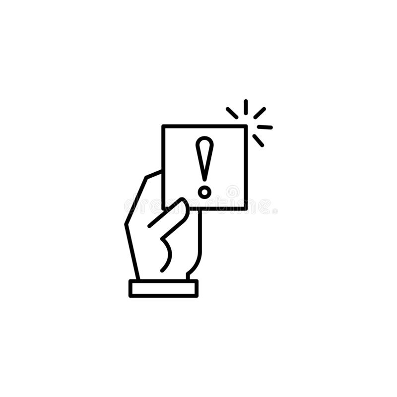 Notice, penalty, sanction icon. Element of general data project icon for mobile concept and web apps. Thin line Notice, penalty, s. Anction icon can be used for stock illustration