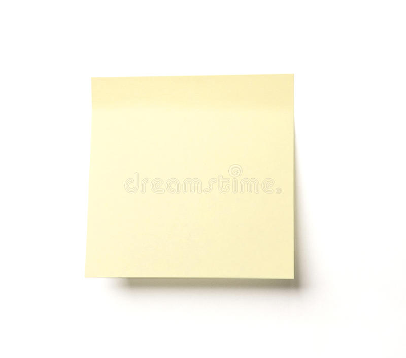 Noticeboard. Yellow notice on white background stock photos
