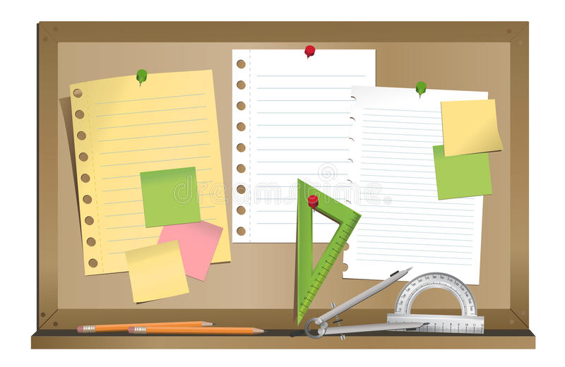 Download Noticeboard stock illustration. Image of stationary, triangle - 36661447