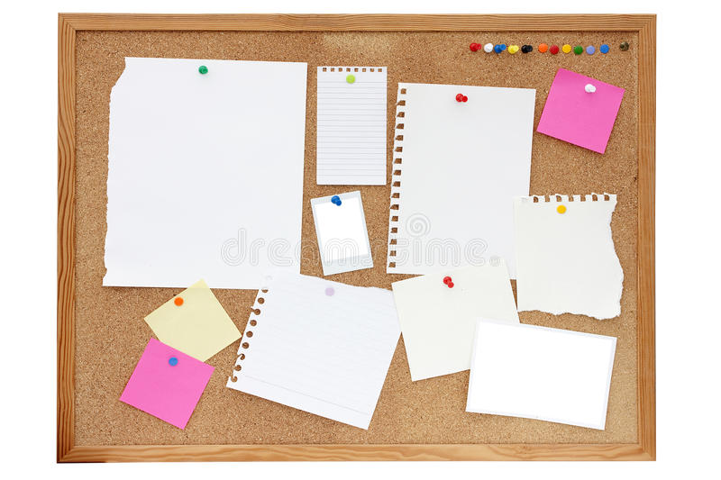 Download Noticeboard or pinboard stock photo. Image of notice - 19186622