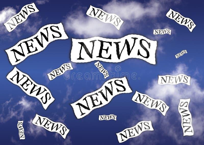 Noticias ilustración del vector