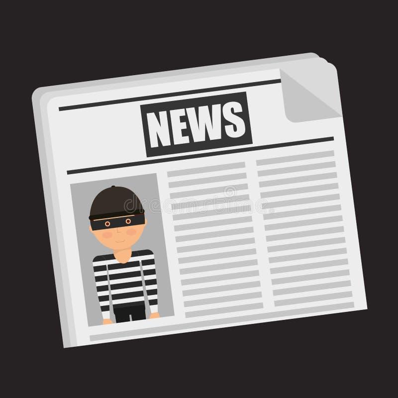 Noticias de última hora ilustración del vector