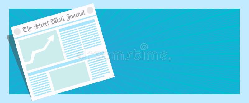 ¡Noticias de última hora! El periódico del vector primero pagina el ejemplo ilustración del vector