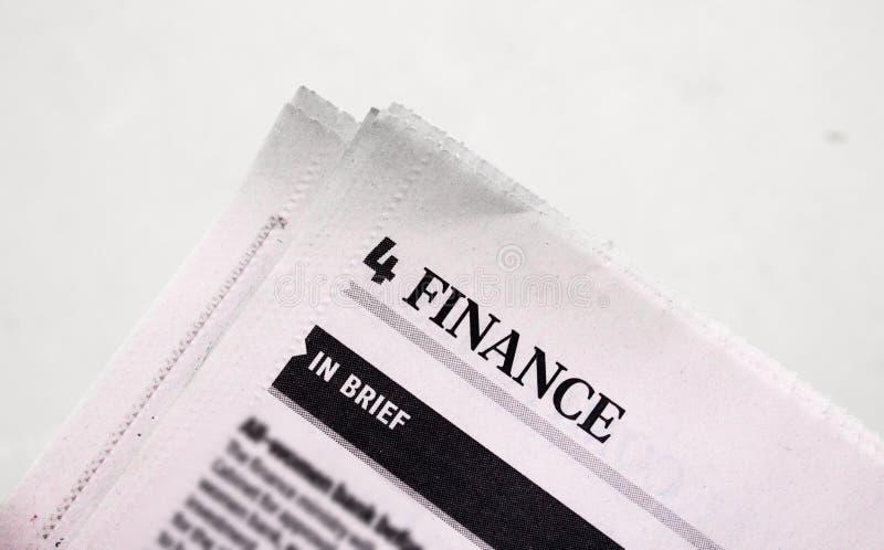 Noticias de las finanzas imagenes de archivo
