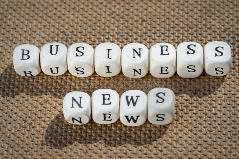 Noticias de negocio foto de archivo
