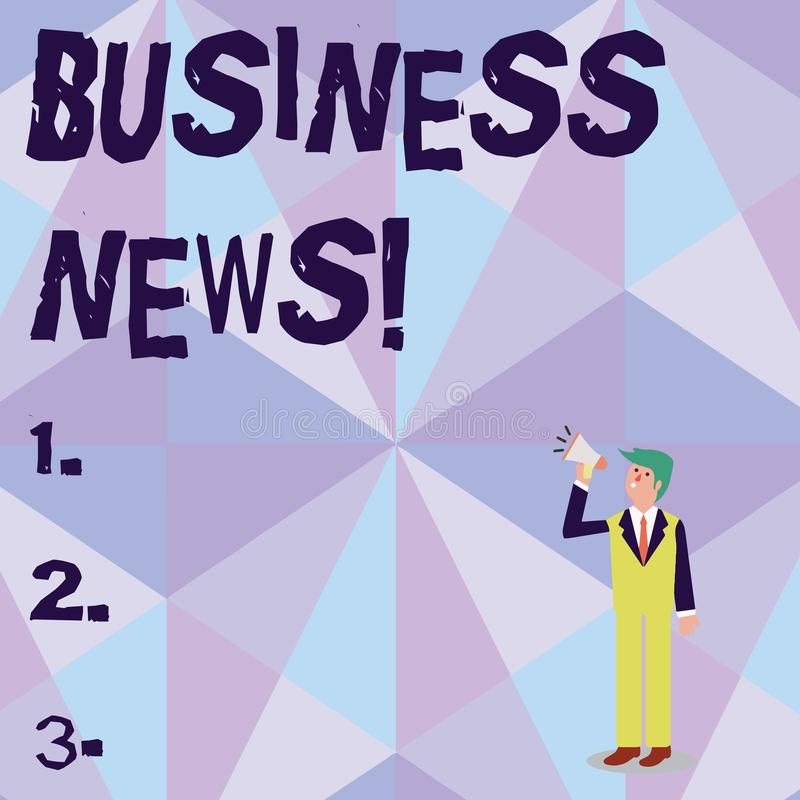 Noticias de negocio conceptuales de demostraci?n de la escritura de la mano La información de exhibición de la foto del negocio d ilustración del vector