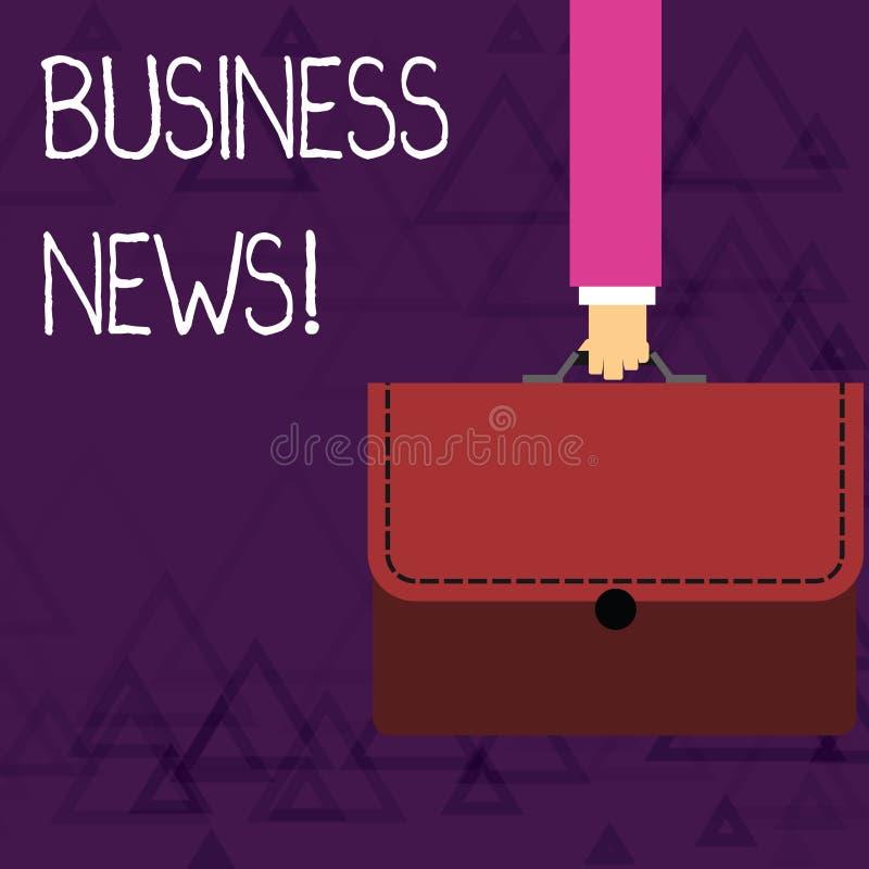 Noticias de negocio de demostraci?n de la nota de la escritura La información de exhibición de la foto del negocio divulgó en un  stock de ilustración