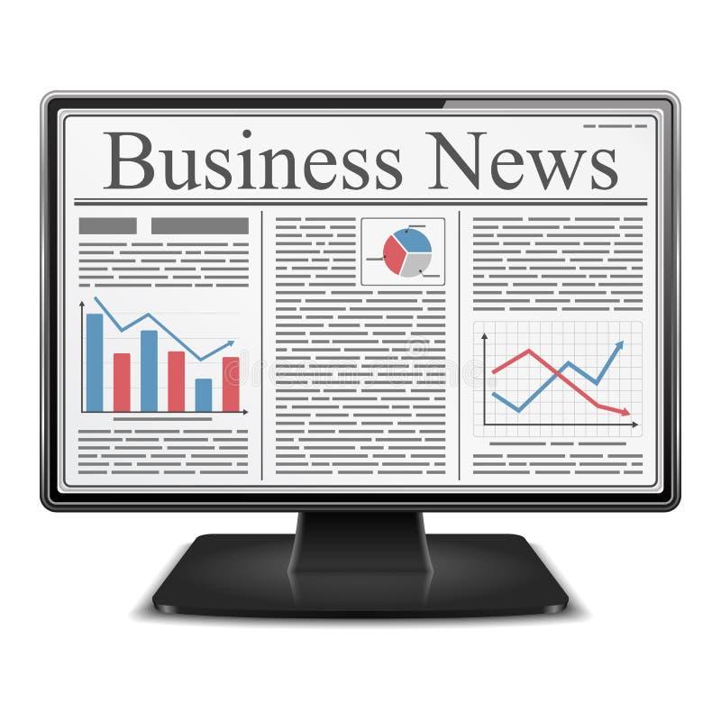 Noticias en ordenador stock de ilustración