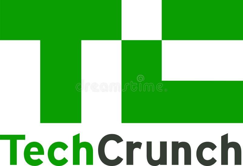 Noticias del logotipo de las noticias del crujido de la tecnología libre illustration