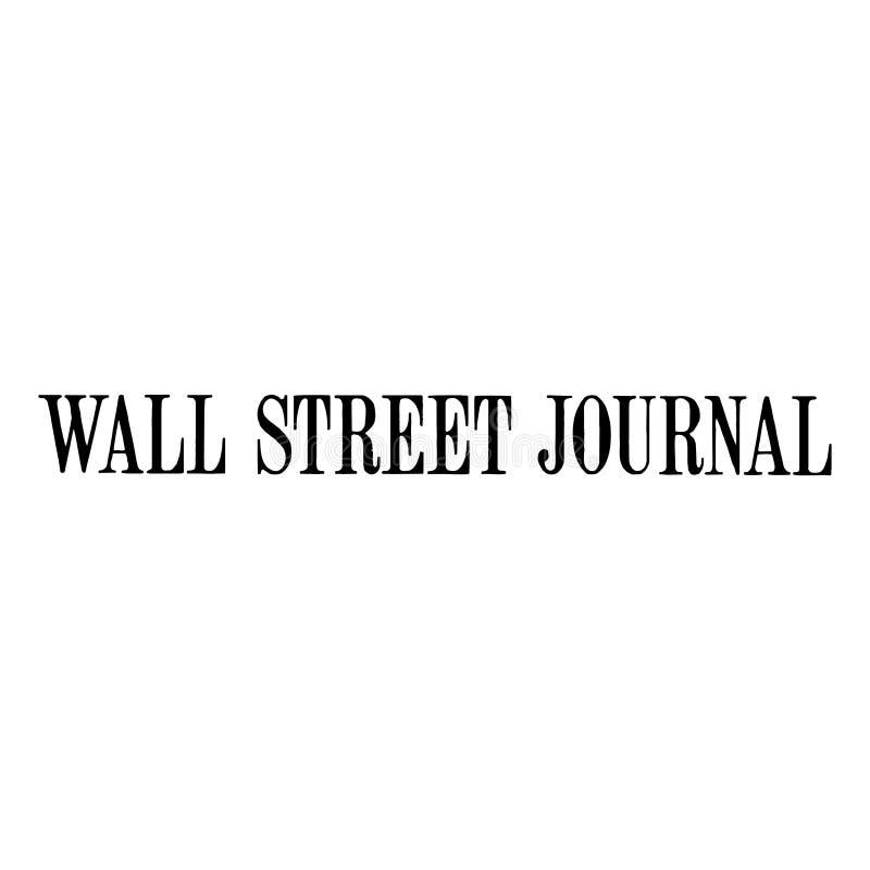 Noticias del logotipo de Wall Street Journal stock de ilustración