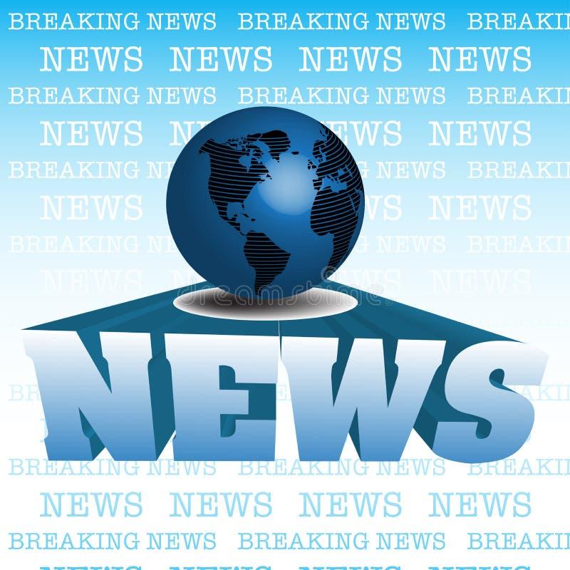 Noticias en todo el mundo stock de ilustración