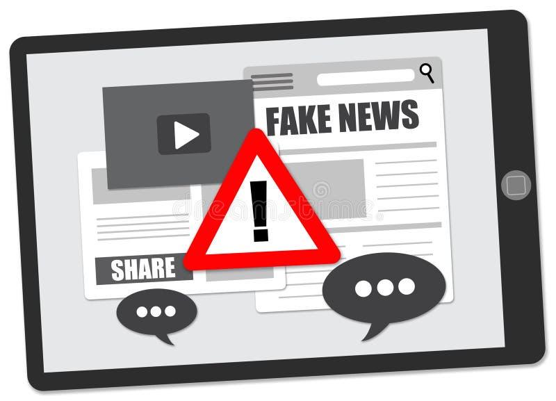 Noticias falsas ilustración del vector