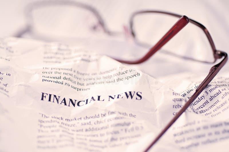Noticias financieras foto de archivo libre de regalías