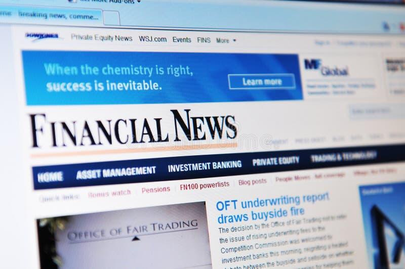 Noticias financieras fotografía de archivo libre de regalías