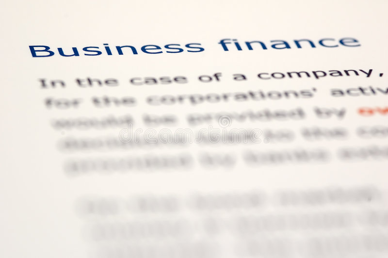 Noticias financieras fotos de archivo