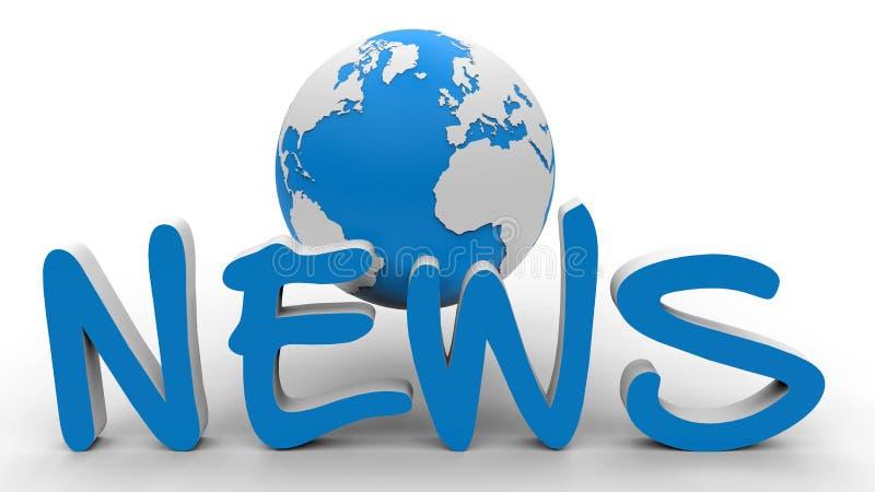 Noticias globales ilustración del vector