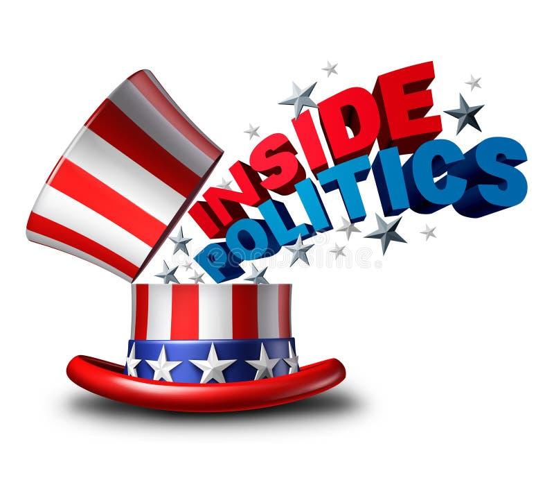 Noticias interiores de la política stock de ilustración